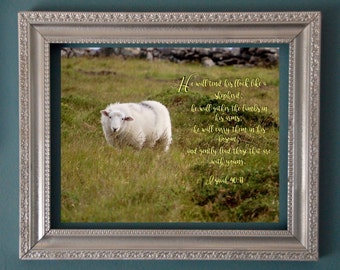 digital download, Sheep, Baby's room, mother to be, Inspirational, Scripture, lamb
