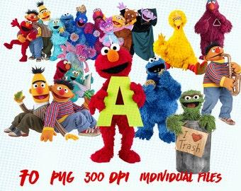 Sesame Street Clip Art   Clipart Images Digital Clip Art Instant Download Graphics