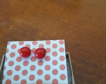 Cheery cherry studs