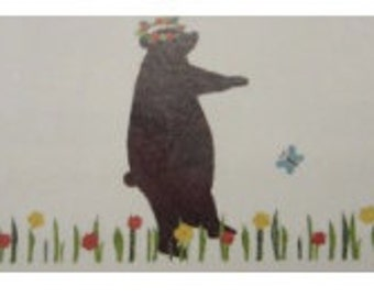 Paper Japanese washi (maskingtape) bear and squirrel