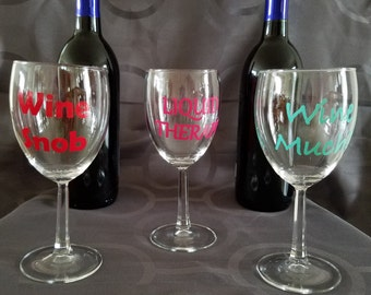 Custom made wine glasses