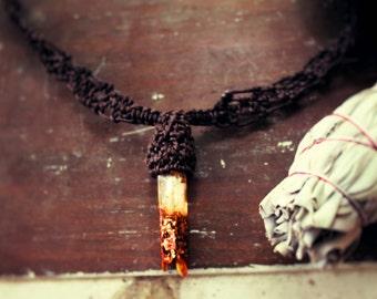 Orgone Crystal Macrame Choker Necklace