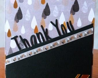 Handmade Die Cut 'Thank You' Greetings Card