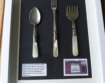 Picture made of Mother of Pearl High Status  Sheffield Cutlery