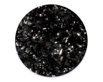 Black Edible Glitter Flakes 1/4 oz