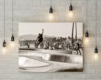 Skateboarding fine art photography venice beach california