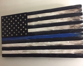 Thin Blue Line Police Flags