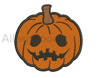 Halloween Pumpkin Embroidery  design 8 Size  INSTANT download machine embroidery