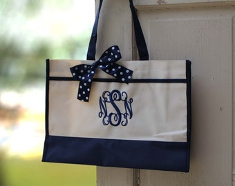 Monogrammed Tote Bag Monogrammed Tote, Bridesmaid Tote, Personalized Tote Wedding (set of 8)