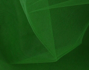 "Green Tulle Fabric - 54"" Wide - 2.5 Yard (PV-926)"