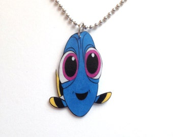 Finding Dory Baby Dory Necklace Pendant Handmade Plastic in USA