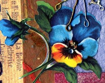 Botanica Metalica greeting cards.set of 4,floral notecards,flower cards,blank inside,floral greeting cards, prints of original art,prints