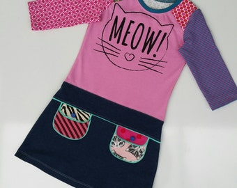 Size 7 (51 1/2 inch) upcycled, unique and repurposed Playdress meow!