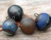 Handmade Stoneware Bead-dangles Assorted Set of 4