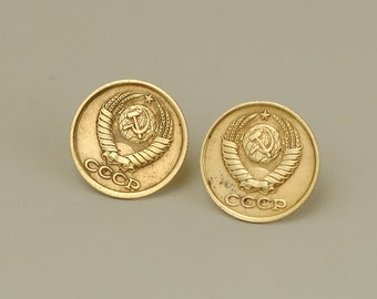 Soviet Union Coin Earrings 1988