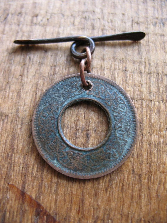 Coin of India Toggle Clasp