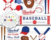 Baseball clipart mitt, baseballs, bats, hats, clip art images, birthday party INSTANT DOWNLOAD