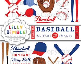 40% off Baseball clipart mitt, baseballs, bats, hats, clip art images, birthday party INSTANT DOWNLOAD