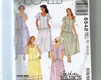 McCall's Misses' Dress  Pattern 6542