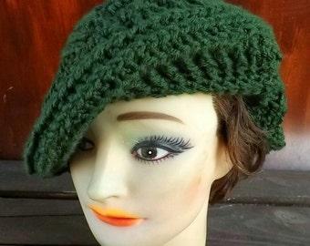 Crochet Patterns for Womens Hat, Crochet Beret Pattern Hat, Womens Hat, Crochet Beret Hat Pattern, Palm Leaf Beret Hat