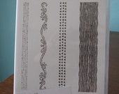 Used Like New! Chalk Lines Stampin' Up! retired photopolymer stamp set (4)