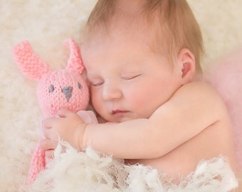 Small Bunny Rabbit Prop KNiT Mini Bunny Stuffie Toy NeWBoRN BaBY PHoTO PRoP Childs Stuffed Animal KiD SoFT ToY Pick Color Bear MoUSE CaT