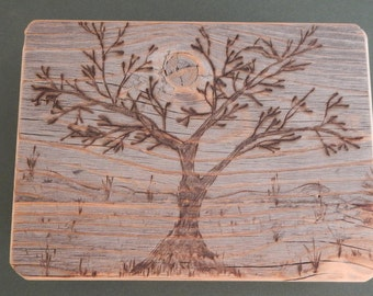 Barnwood FULL MOON TREE box - Rustic Refined