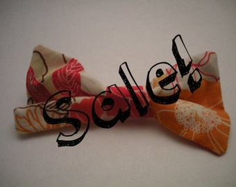 Floral Clip On Bow Tie
