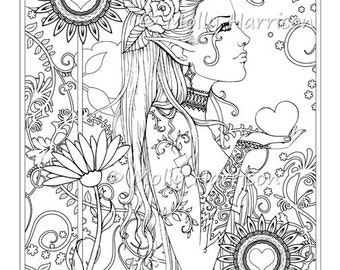 In The Rain Coloring Page Printable Cute Little Girl