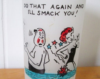 vintage humor at the beach glass