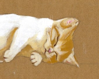 "Kitten Dreams About Eating Eyeballs 5"" x 7"" Print"