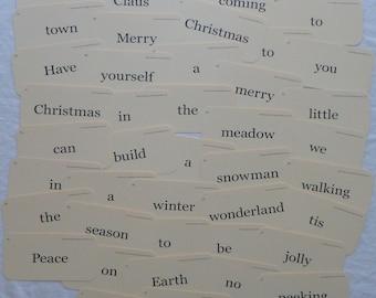 Christmas Sentences flash cards