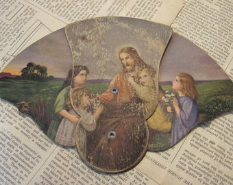 VINTAGE Jesus Advertising FAN paper