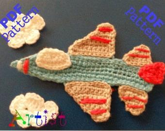 Jet aircraft crochet Pattern