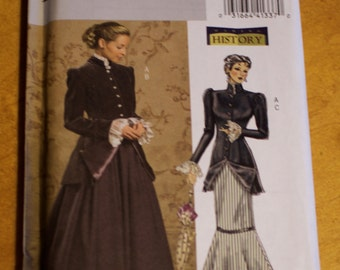 Historical dress pattern, Butterick B4954, size BB