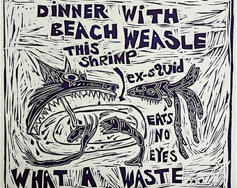 Dinner with Beach Weasle