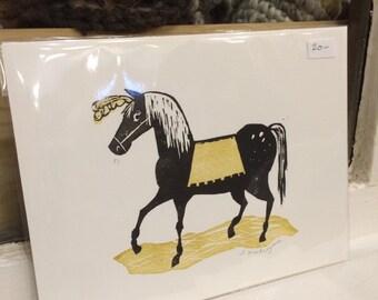 Black Horse original print