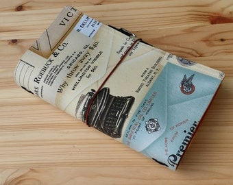Fauxdori  Classic size  fits 21 x 11 books   Fabric Travelers Notebook includes pen loop No internal pockets