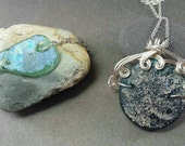 Custom Roman Glass Bracelet and Pendant Set RESERVED