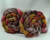 NEW  Hand Dyed Mixed Merino Black and White Combed Top for Spinning Yarn Hollow Scarlet's Web Multi Color