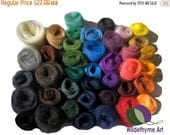 Valentine Sale Needle Felting Kit, Craft Kit, DIY, Deluxe / Gift Packaging or extra fiber, roving options, wool craft kit