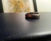 Antique vintage hallmarked sterling silver wedding ring size 8.5, plain comfort band for men or women