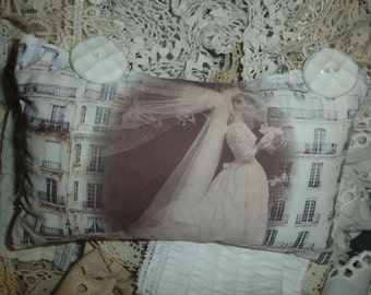 Bride*Wedding*Quotation French Lavender Sachet*SALE* Lace ribbon*You must allow me to tell you how ardently I admire and love you.Romantic