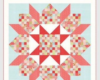 Patchwork Swoon quilt pattern from Thimble Blossoms - jelly roll friendly