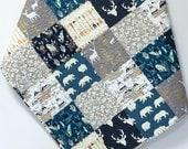Custom Listing for Amber Baby Boy Quilt Woodland Teepee Bear Deer Buck Arrows Feathers Antlers  Rustic Nursery Bedding Crib Bedding