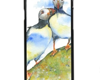 "Phone Case ""Warm Fuzzy"" - Puffin Birds, Friends, Together, Birds, Wild, Nature By Olga Cuttell"