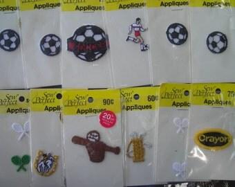 Assortment of Sports Appliques