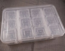 Set of 25 storage boxes - 24 in 1 - bead storage boxes, small parts boxes, findings boxes, clear plastic boxes