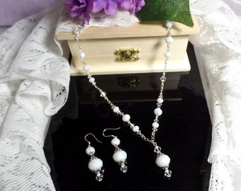 Bridal Necklace Set Vintage Wedding Necklace and Earrings Victorian-Bridal Gift