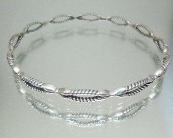 Sterling Silver Narrow Bangle Bracelet